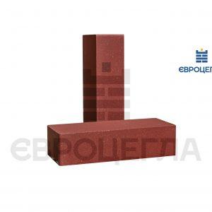 Кирпич для забора гладкий 250x105x65мм красный