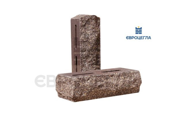 Облицовочный кирпич пустотелый скала тычковой 220x90x65мм шоколад