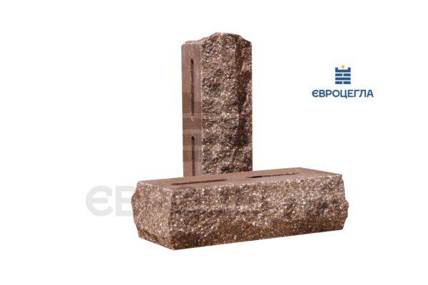 Облицовочный кирпич пустотелый скала тычковой 220x90x65мм коричневый