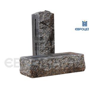 Облицовочный кирпич пустотелый скала тычковой 220x90x65мм черный