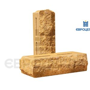 Облицовочный кирпич пустотелый скала тычковой 220x90x65мм слоновая кость