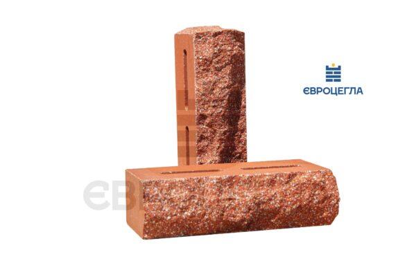 Облицовочный кирпич пустотелый скала тычковой 220x90x65мм морковный