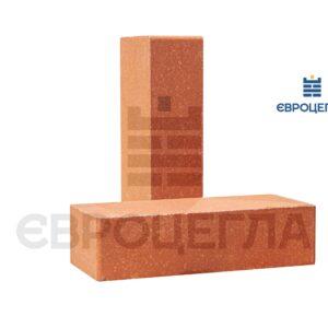 Облицовочный кирпич гладкий 250x105x65мм морковный