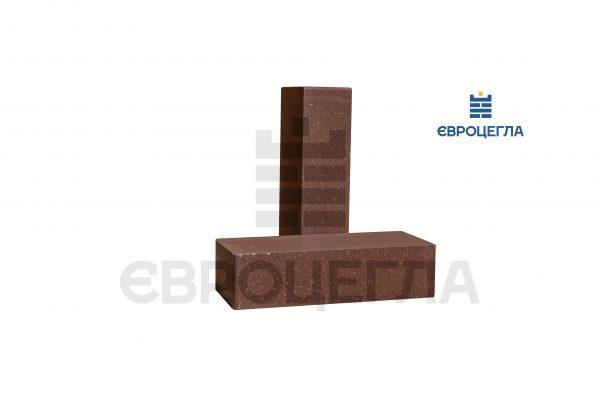Кирпич для забора гладкий 250x105x65мм коричневый