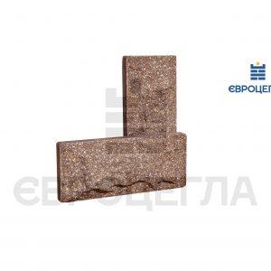 Цокольная плитка скала 250x105x20мм коричневая