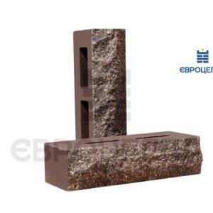 Облицовочный кирпич пустотелый скала 250x100x65мм шоколад