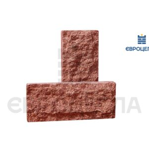 Цокольная плитка скала 250x105x20мм красная