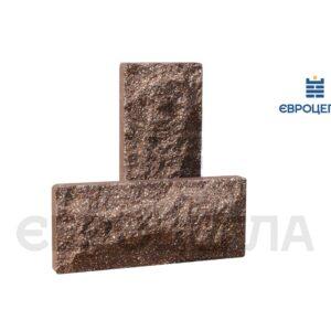 Цокольная плитка скала 250x105x20мм шоколад