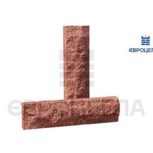 Облицовочная плитка скала стандарт 250x65x20мм красная