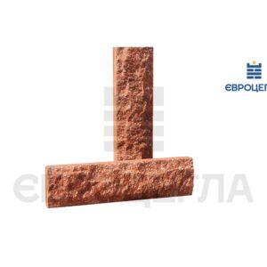 Облицовочная плитка скала стандарт 250x65x20мм морковная