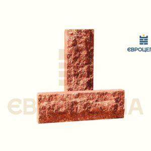 Облицовочная плитка скала короткая 200x65x20мм морковная