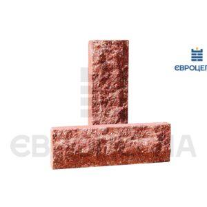 Облицовочная плитка скала короткая 200x65x20мм красная
