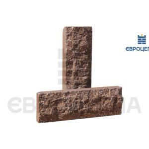 Облицовочная плитка скала короткая 200x65x20мм коричневая