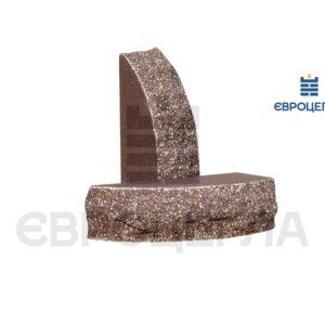 Кирпич для забора скала полукруглый 230x100x65мм шоколад