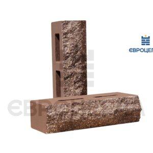 Облицовочный кирпич пустотелый скала 250x100x65мм коричневый