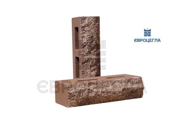 Кирпич для забора пустотелый скала 250x100x65мм коричневый