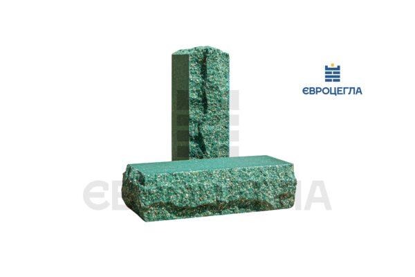 Облицовочный кирпич пустотелый скала тычковой 220x90x65мм зеленый