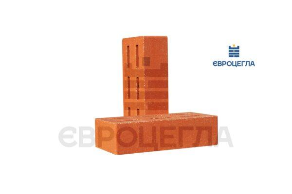 Облицовочный кирпич пустотелый гладкий 250x120x65мм морковный