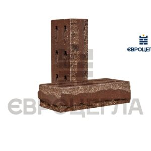 Облицовочный кирпич луч пустотелый тычковой 250x120x65мм шоколад