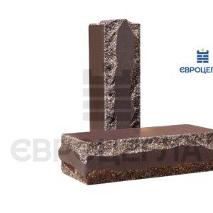 Облицовочный кирпич луч тычковой 250x105x65мм шоколад
