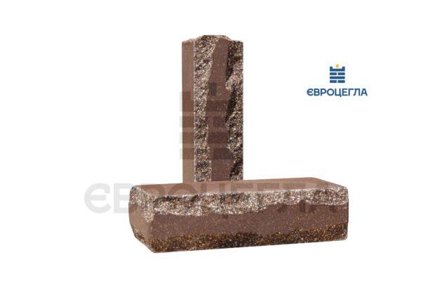 Кирпич для забора луч тычковой 250x105x65мм коричневый